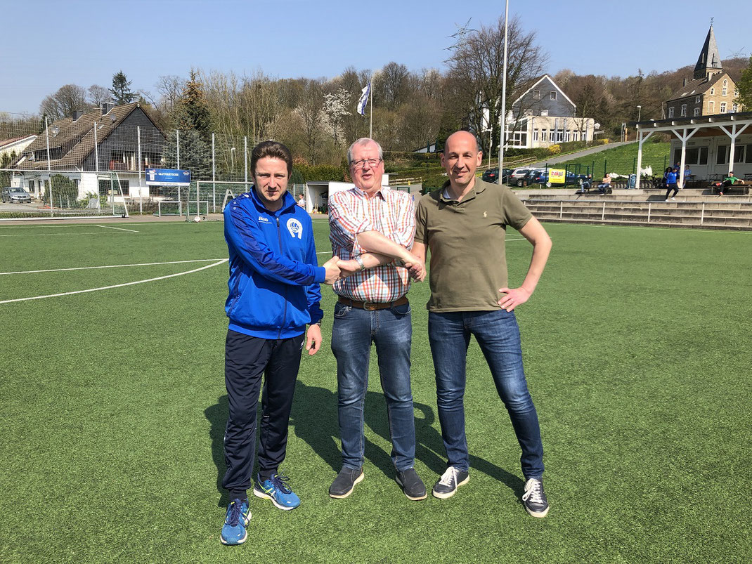 v.l: Jörg Schwarz, Wolfgang Scherff und Christian Keuchel