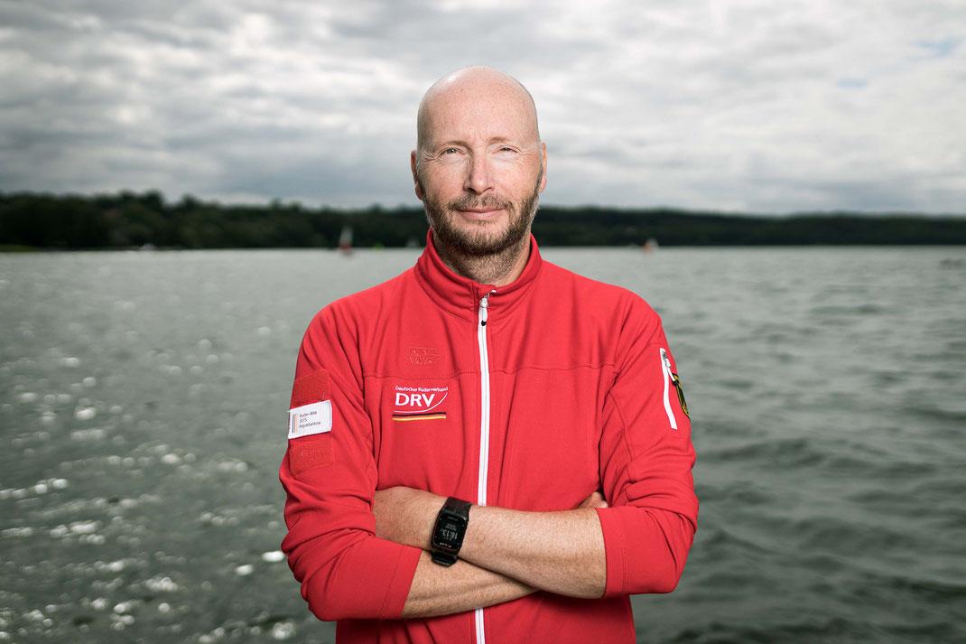 Der Berliner Olympiastützpunkttrainer Alexander Schmidt coacht in Sarasota den Männer-Doppelvierer. Foto: DRV/Schwier