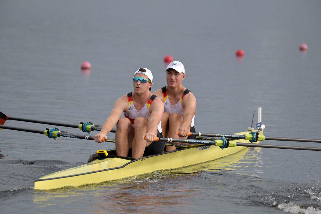 Henrik Runge und Anton Finger mit Platz zwei im Vorlauf. Foto: 2000meter.de