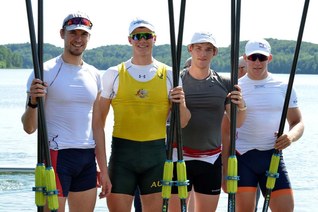 Johannes Lotz, David Junge, Franz Werner, Moritz Wolff (von links). Foto: 2000meter.de