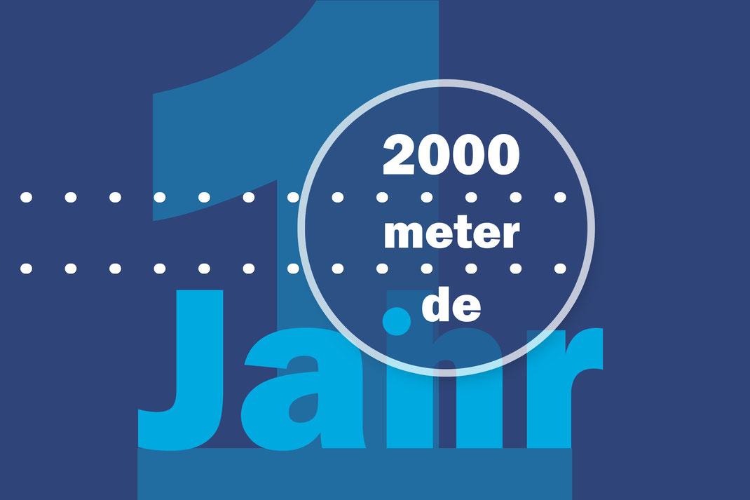 2000meter.de hat im ersten Jahr rund 350 redaktionelle Inhalte produziert.