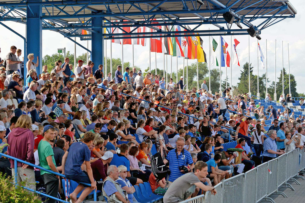 Beim 50. Jubiläum der Regattastrecke am Beetzsee erwartet die Zuschauer ein starkes Wettkampfprogramm mit 327 Starts. Foto: 2000meter.de