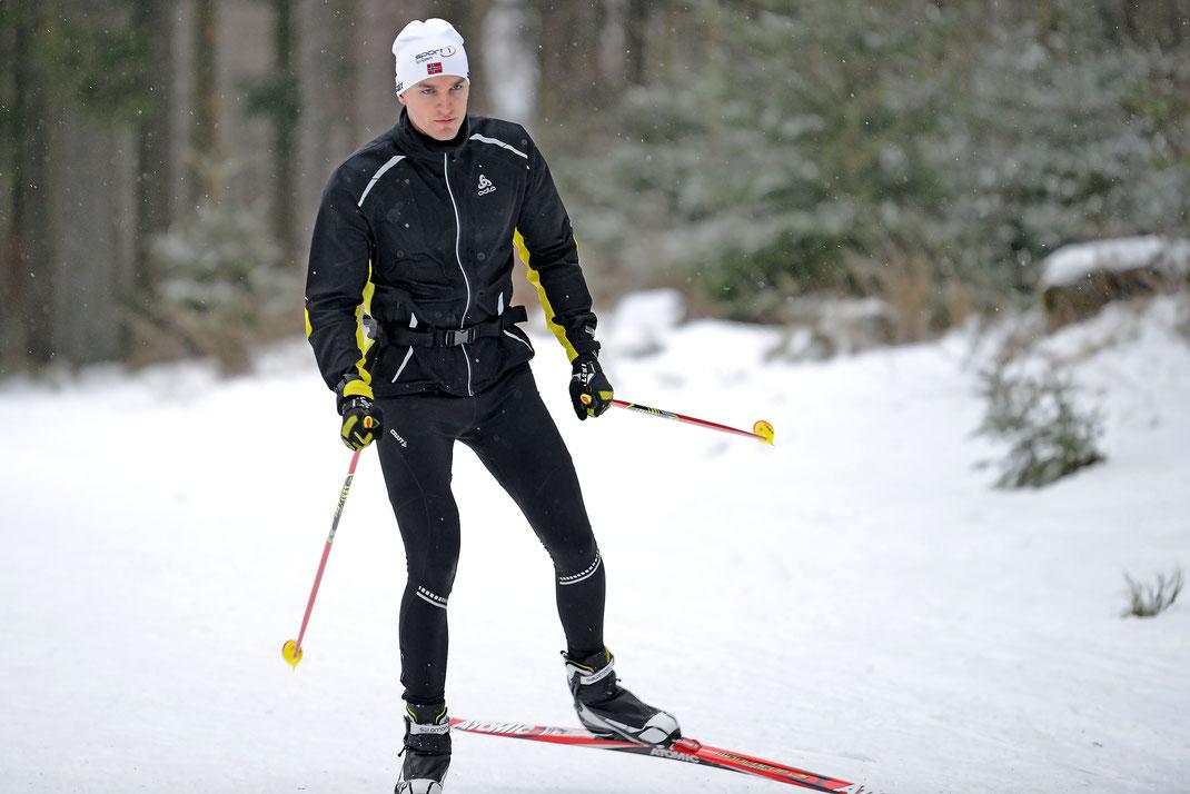 Das 2019er Trainingsprogramm der Berliner U23-Skuller mit Johannes Lotz (Foto) beginnt im Schnee. Foto: 2000meter.de