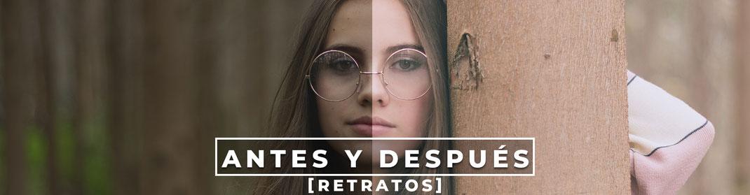 Antes y después fotografía, Antes y después retratos, antes y despues.