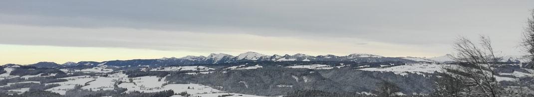 Ruderrad Bergpanorama