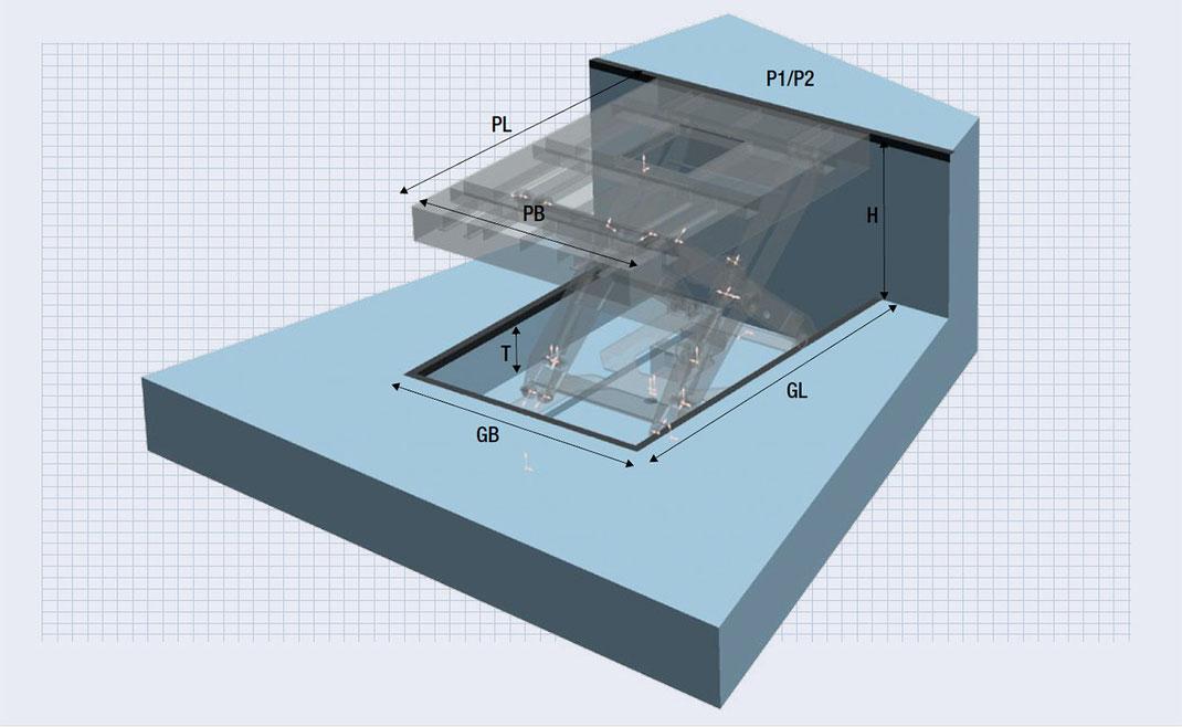 CAD-Planungsdaten Hebebühne