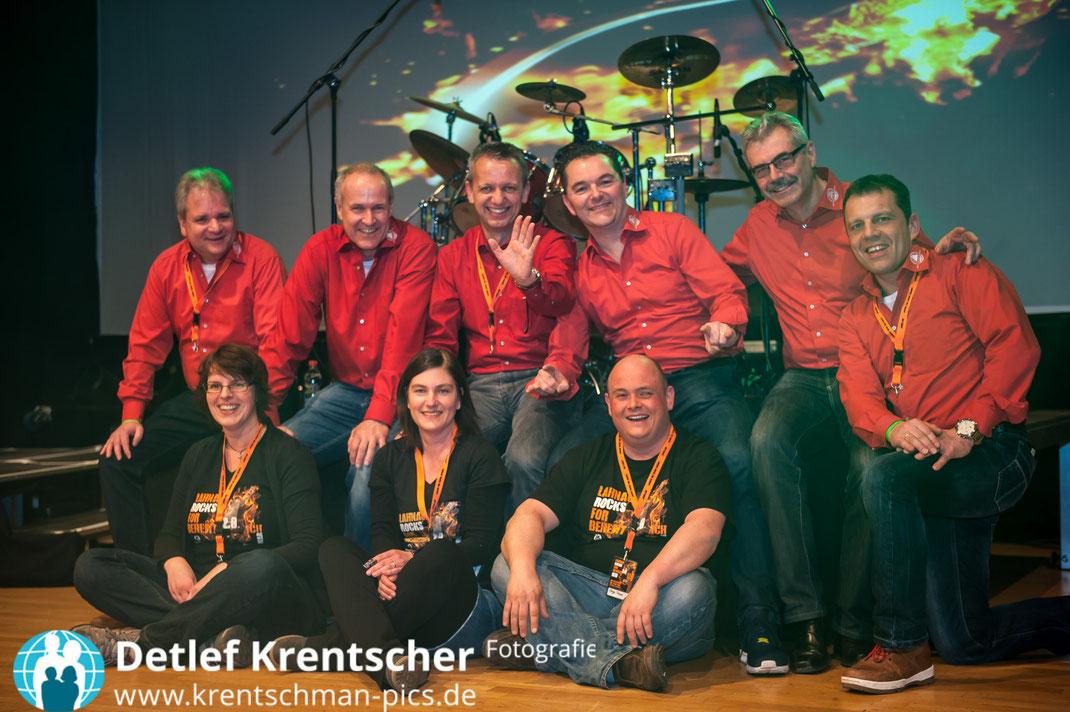 Lahnau rocks for Benefit 2015 - Vorstand Menschen für Kinder und unser Organisationsteam