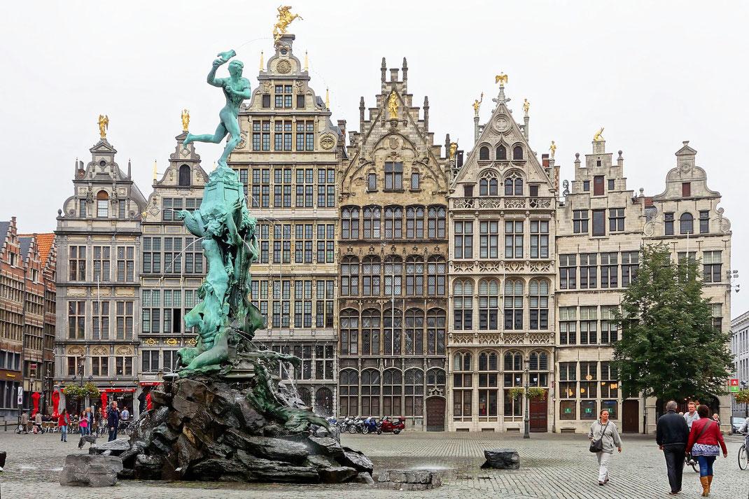 Antwerpen, Grote Markt, Brabo-Brunnen
