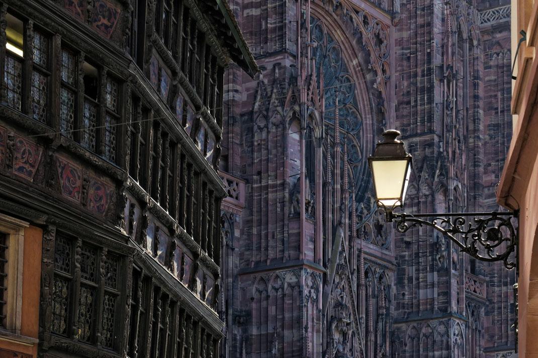 Strassburg - Maison Kammerzell und Westfassade des Münsters