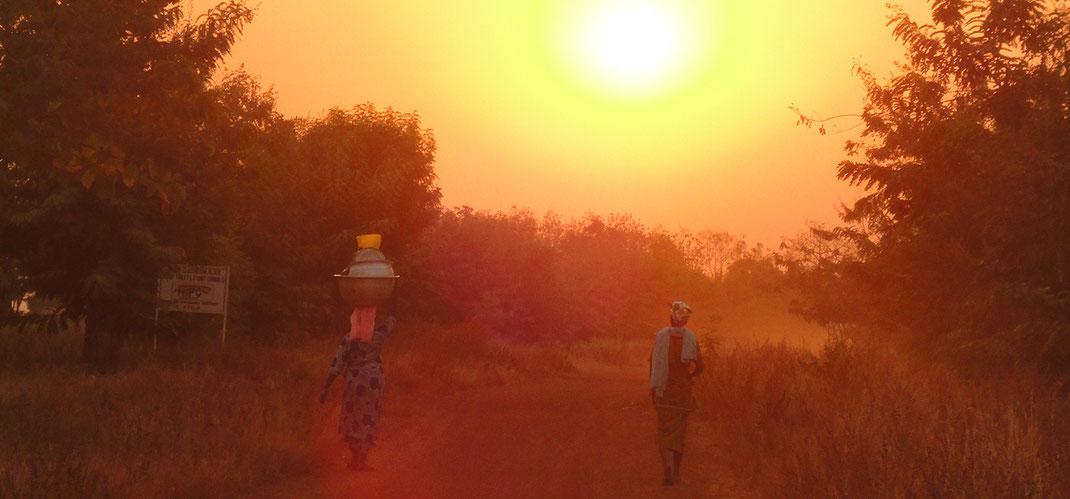 ガーナの夕日 風景