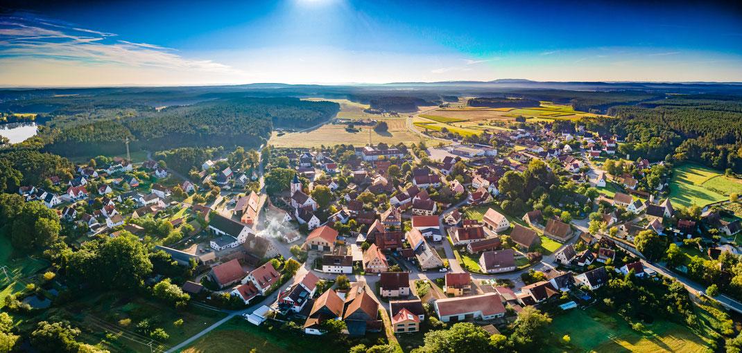 Petersgmünd Luftbildaufnahme