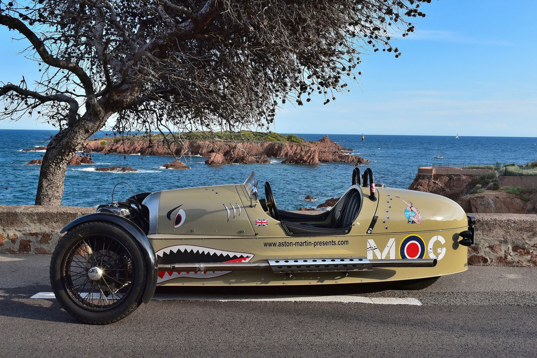 Morgan 3 Wheeler in Saint Raphaël, Estérel, French Riviera
