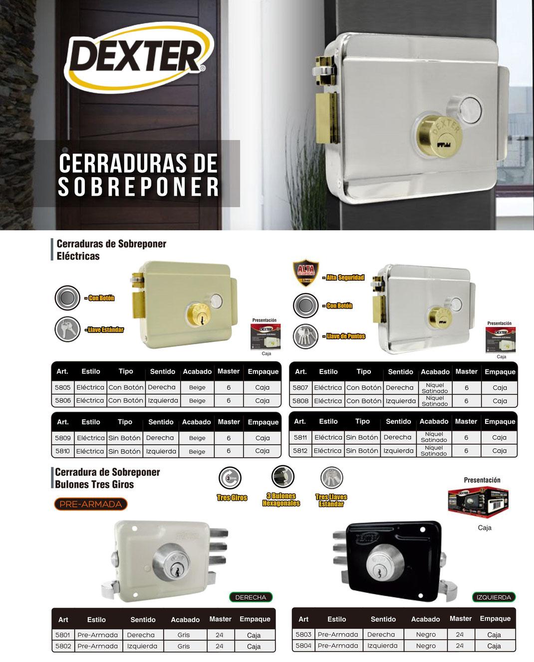 CERRADURAS DE SOBREPONER