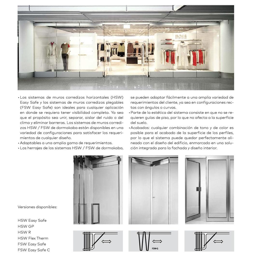 Sistemas para muros móviles corredizos de vidrio plegables y aplilables