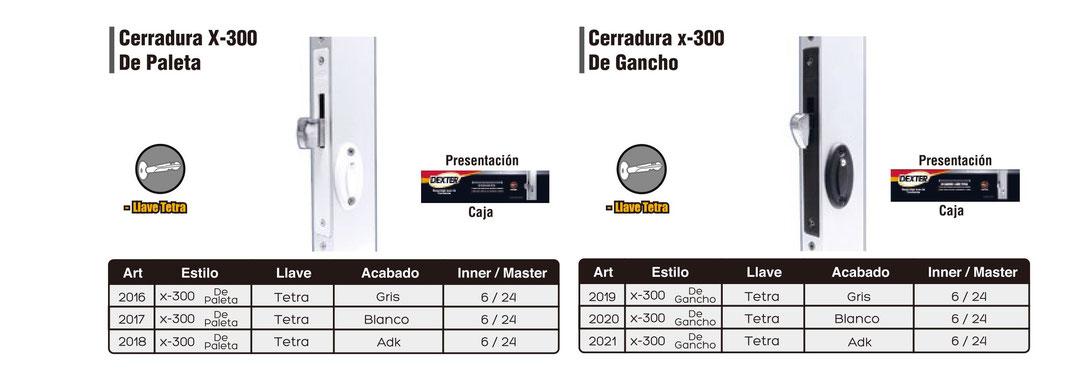 X-300 DE PALETA Y DE GANCHO