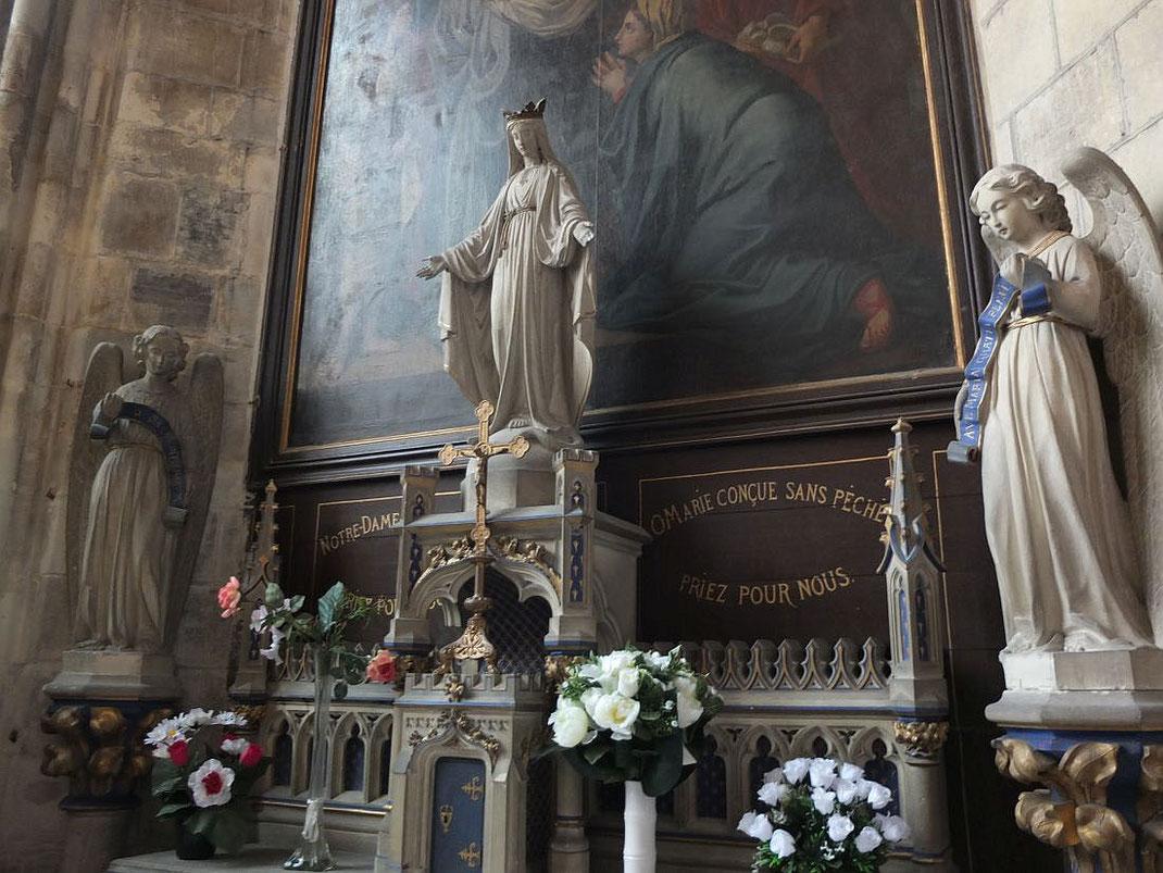 L'autel de la Vierge, cathédrale de Lisieux