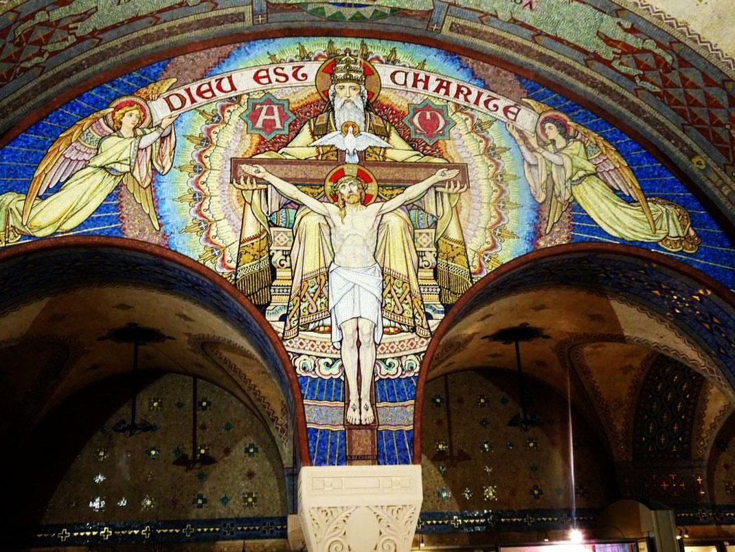 Dans la crypte, chapelle des Saints  Zélie et Louis Martin