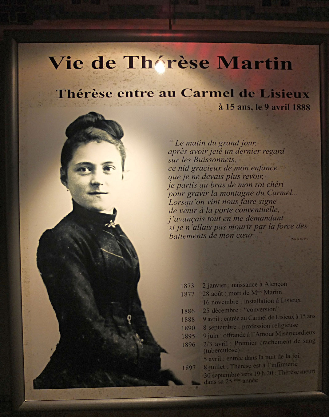 La vie de la petite Thérèse de Lisieux