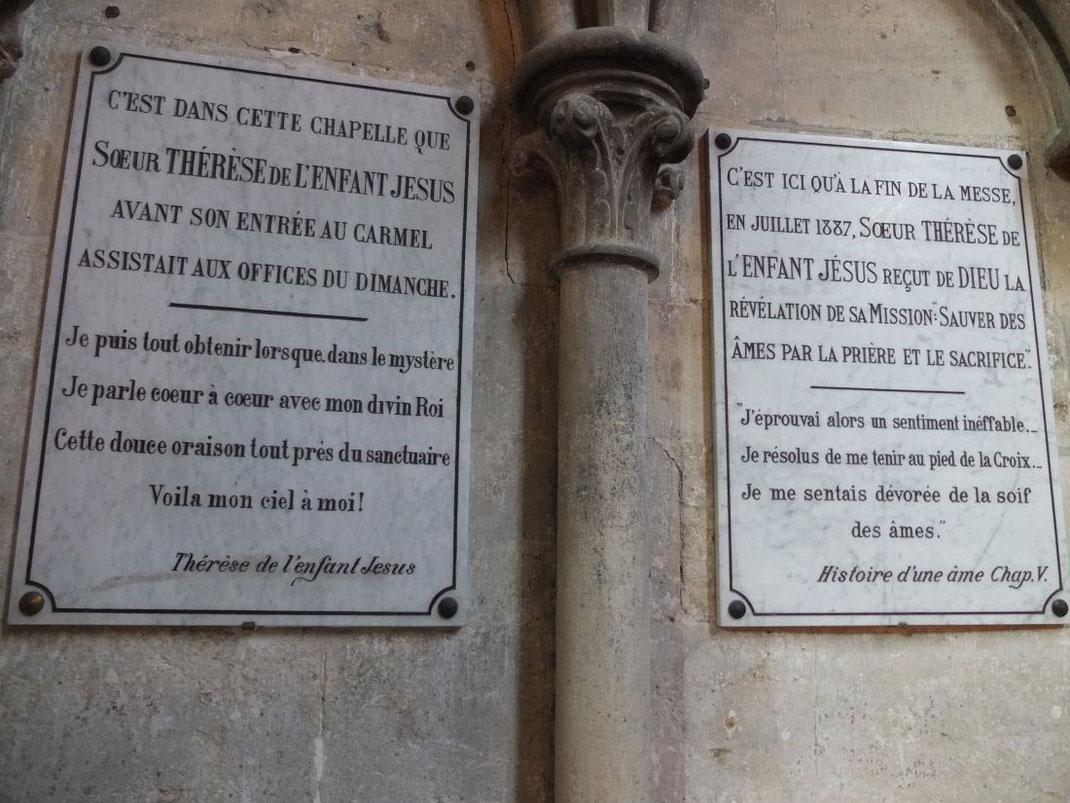 Juillet 1887 : la mission de Sainte Thérèse
