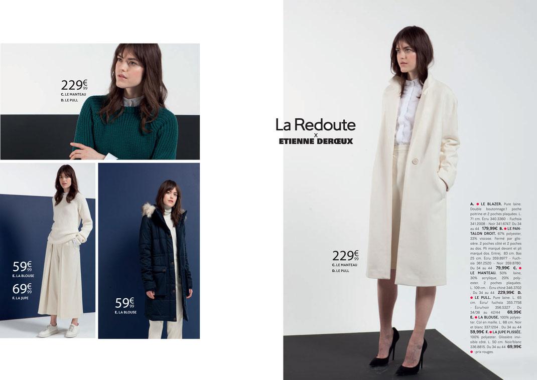 Maquettes réalisées pour La Redoute / catalogues / prêt-à-porter
