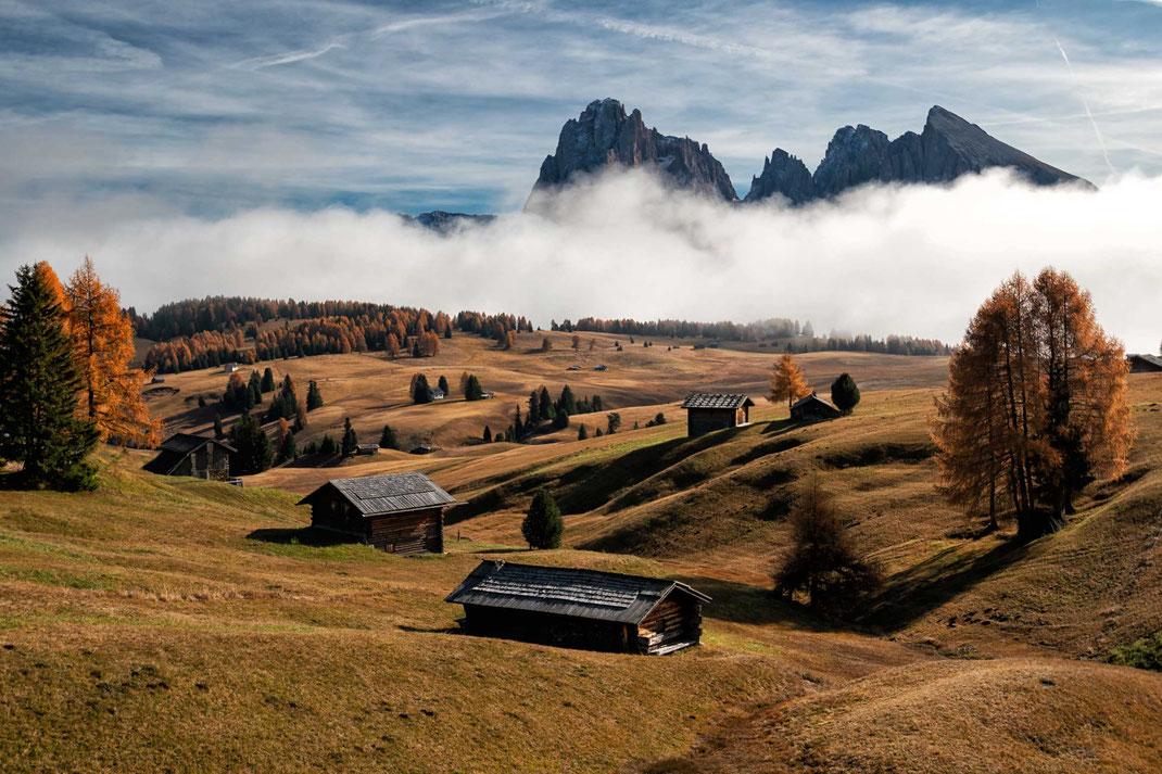 Seiser Alm, Herbststimmung, Dolomiten, UNESCO Weltnaturerbe