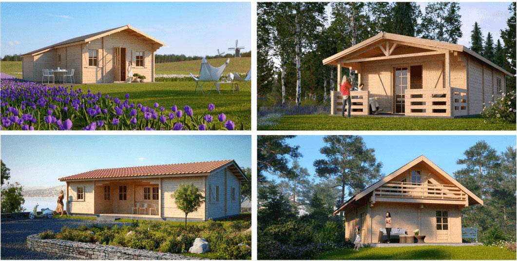 Toute nos possibilités de maison en bois, chalet bois massif