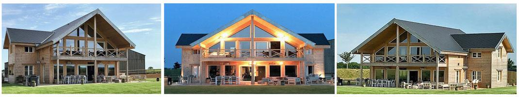 Réalisation maison en bois madrier contre collé 240m²