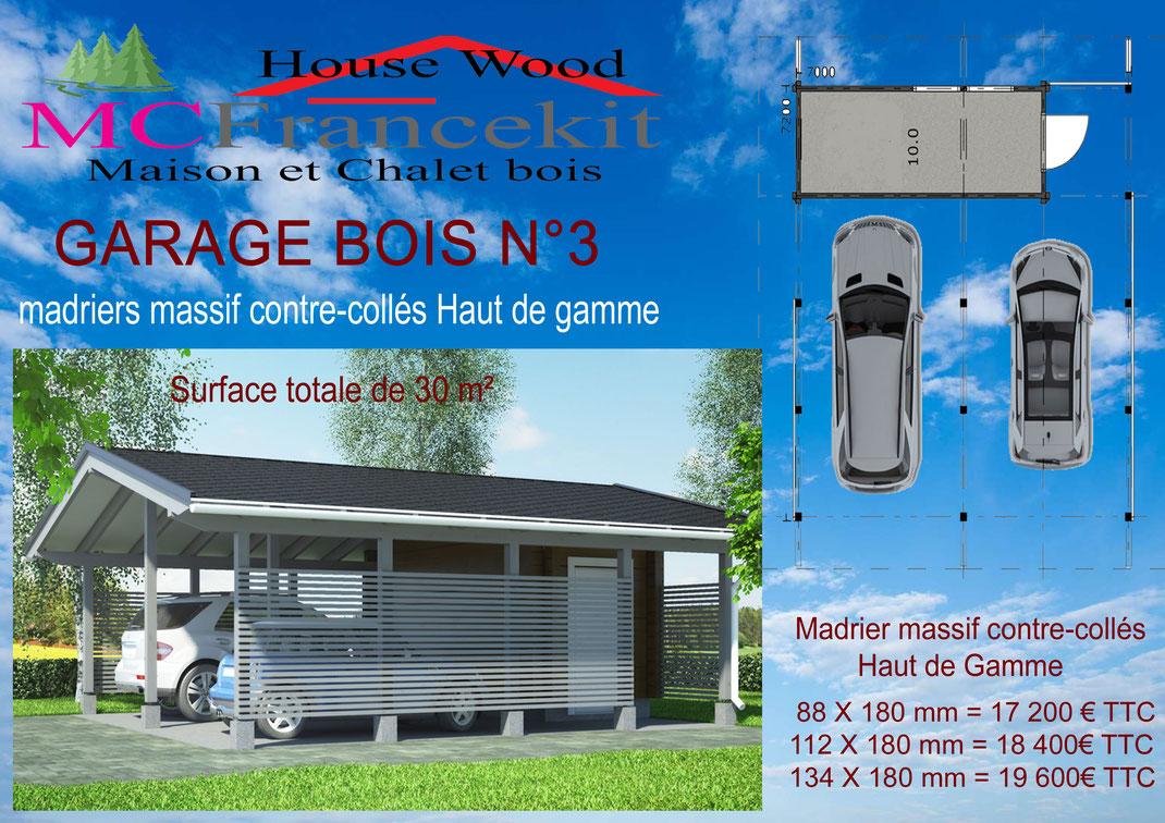 garage , kiosque, carport. - chalet en kit, maison en bois.