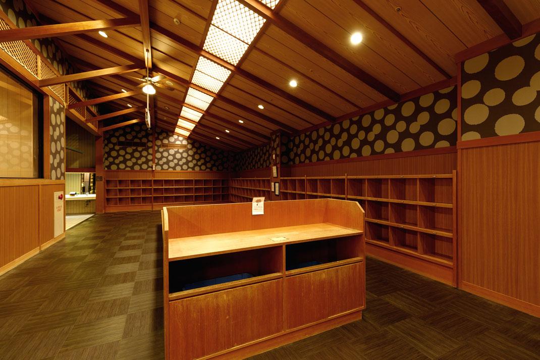 【店舗設計】石川県七尾市和倉温泉旅館多田屋大浴場 脱衣室
