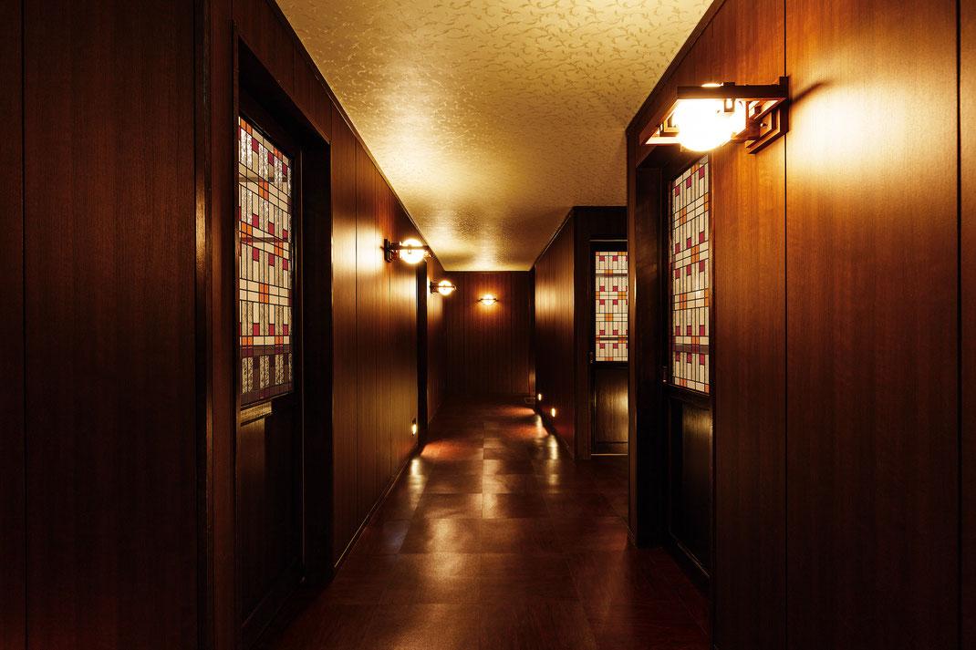 【店舗設計】石川県七尾市和倉温泉旅館多田屋YUUHIダイニング 蒼囲廊下