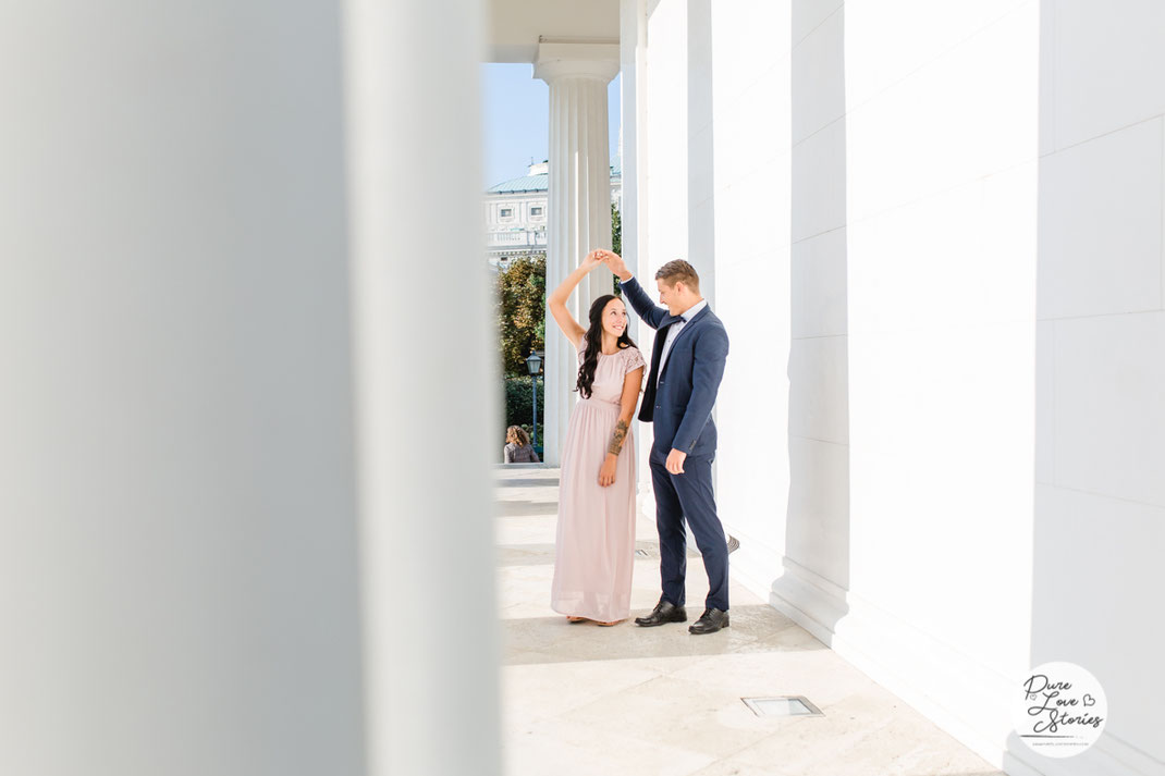 romantisches Fotoshooting mit kurzer Tanzeinlage