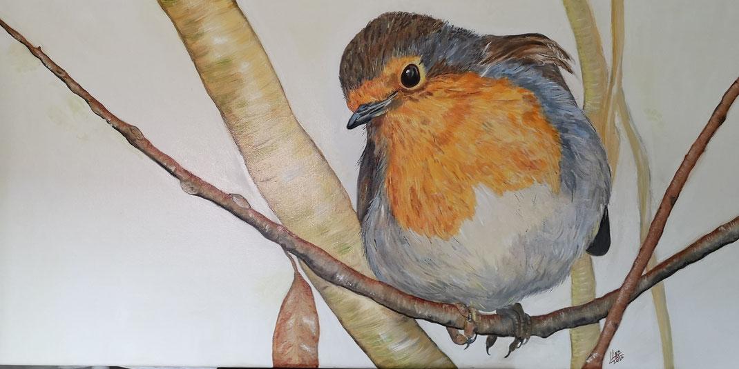 "1. Giant robin ""Suus"""" 120x60 cm"