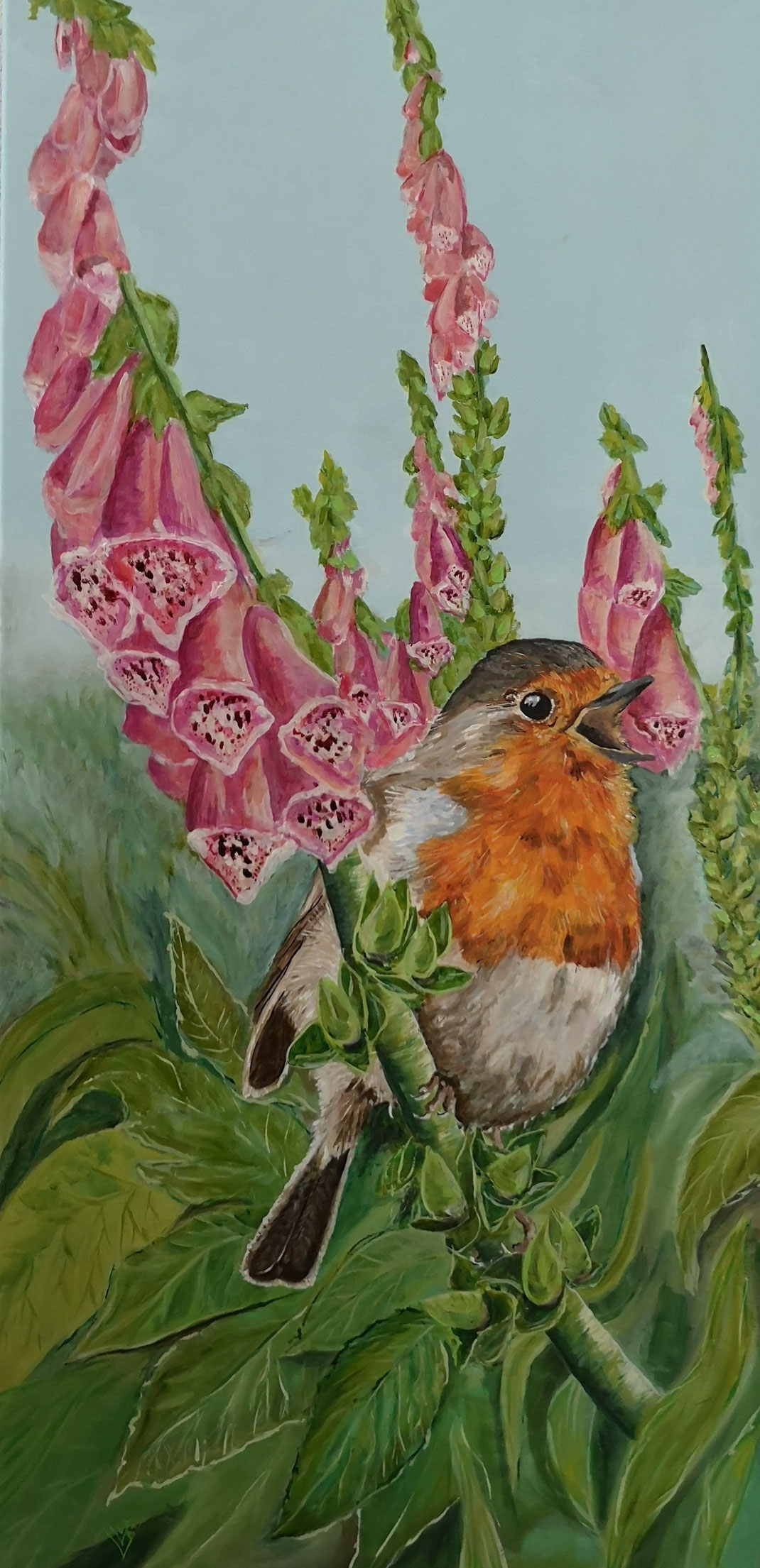 "Giant robin ""Digitalis purperea"" 60x120cm"