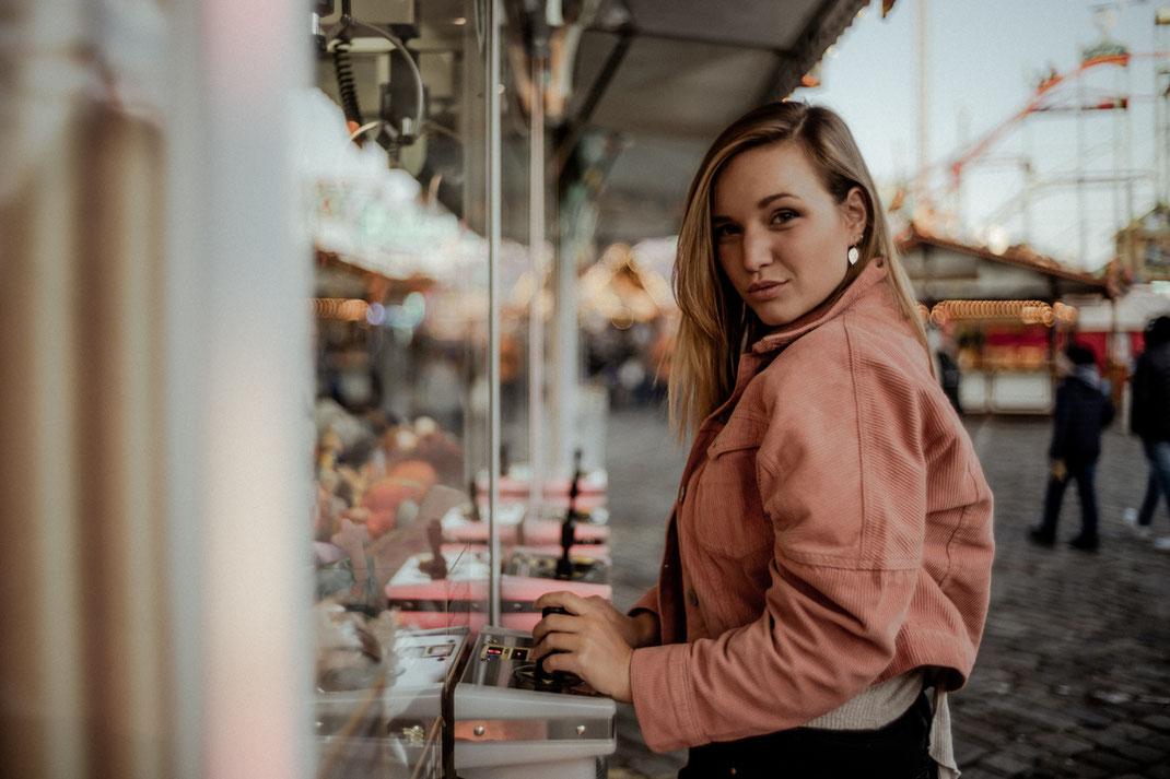 Fotoshooting auf dem Bremer Freimarkt