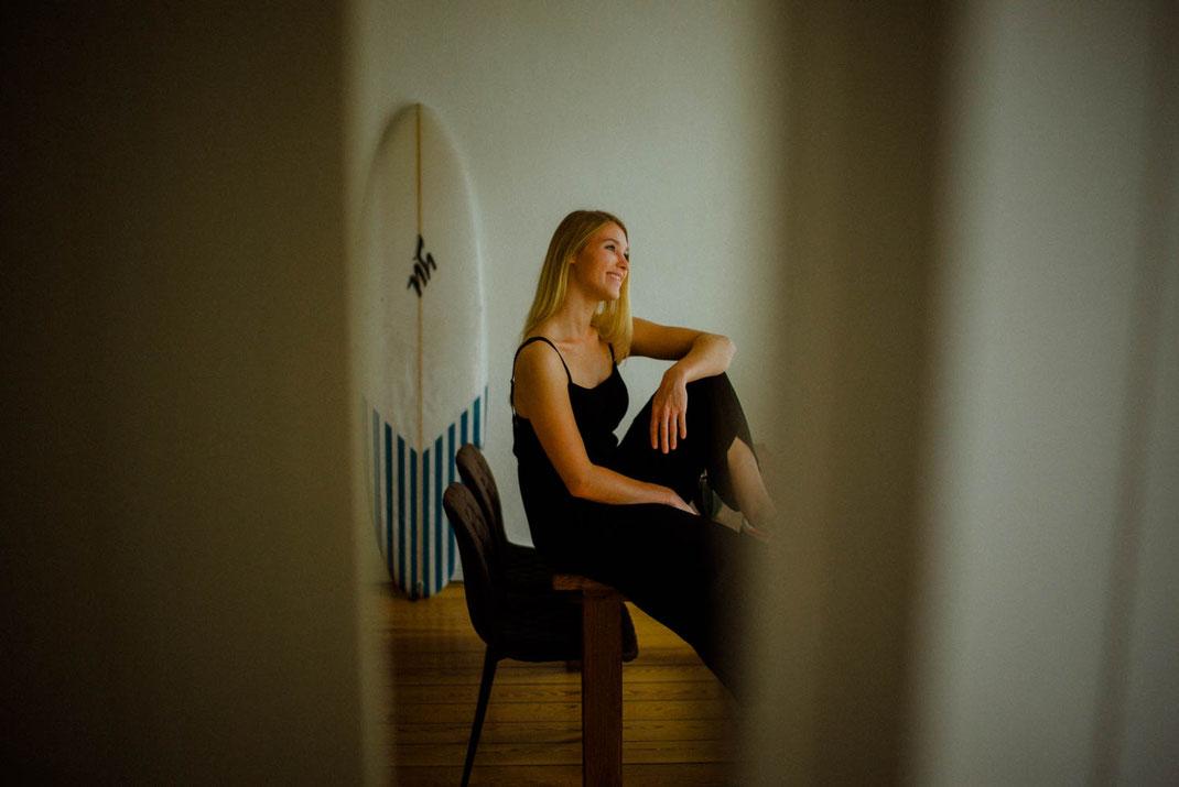 Frau beim Homeshooting