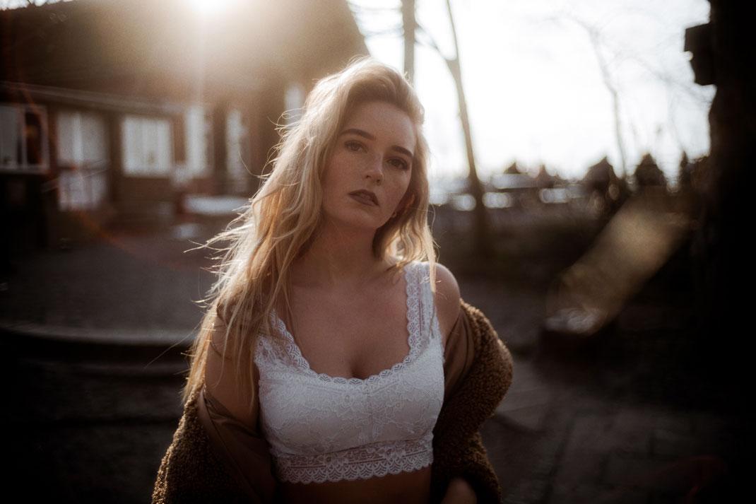 Fotoshooting mit Lara an der Nordsee