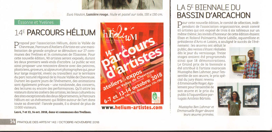 Article Pratique Des Arts no 142 Octobre / Novembre 2018