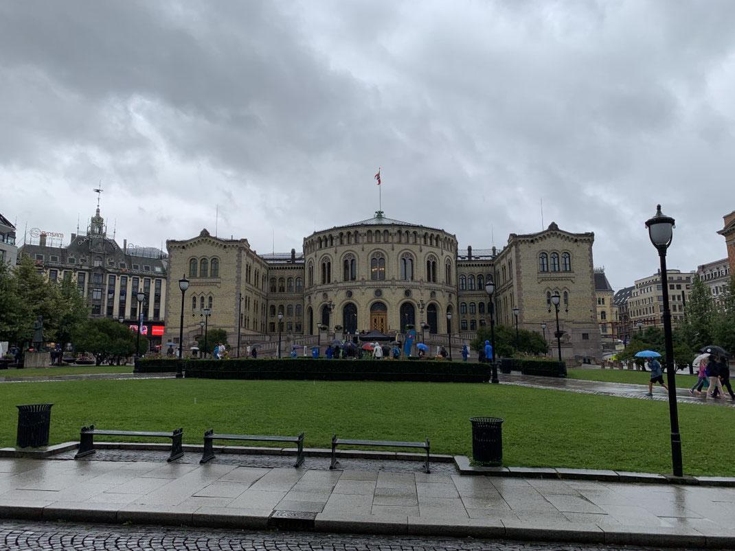 Norwegen, Oslo, Zentrum, Fusßgängerzone, Parlament