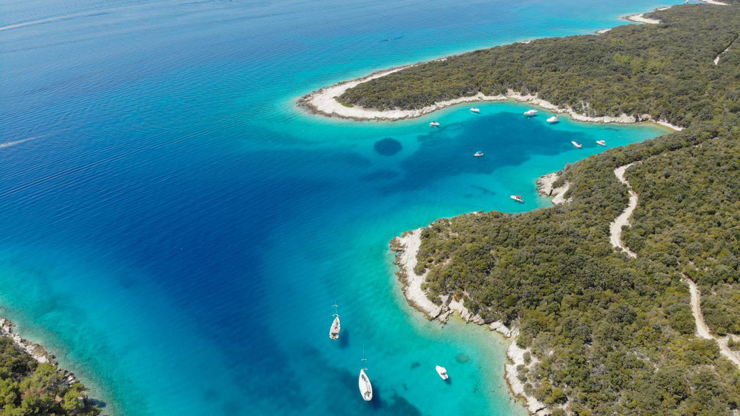 Kroatien, Segeln, Badestopp, Bucht, Krivica