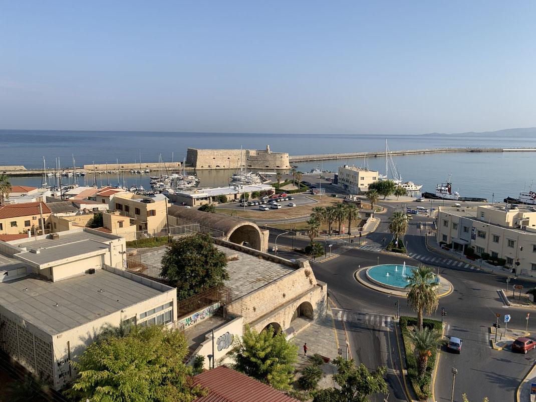 Griechenland, Kreta, Sehenswürdigkeit, Reisebericht, highlight, Urlaub, Heraklion, Hafen, Festung, Burg, Zentrum