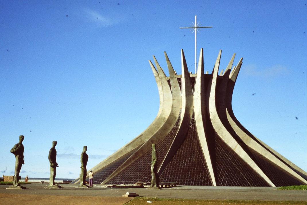 Brasil, Brasilien, Brasilia, Kathedrale, Zentrum, Skyline