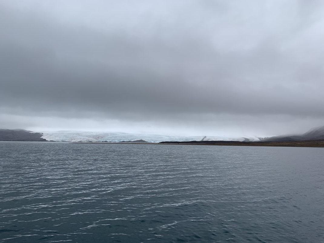 Spitbergen, Svalbard, Islfjord, Pyramiden, Gletscher
