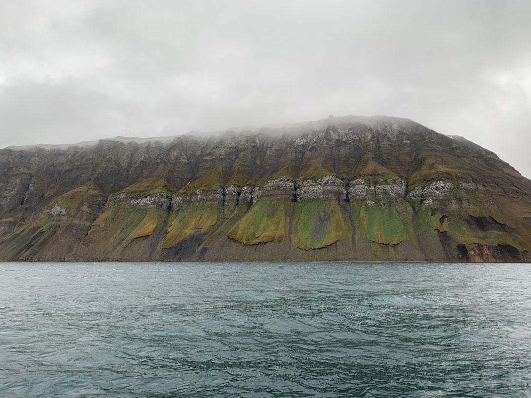 Spitbergen, Svalbard, Islfjord, Grumant, Berg, Formation