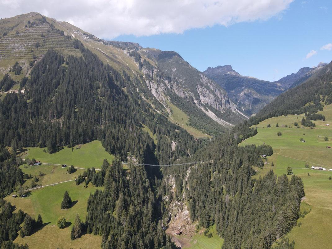 Österreich, Tirol, Hängebrücke, Holzgau