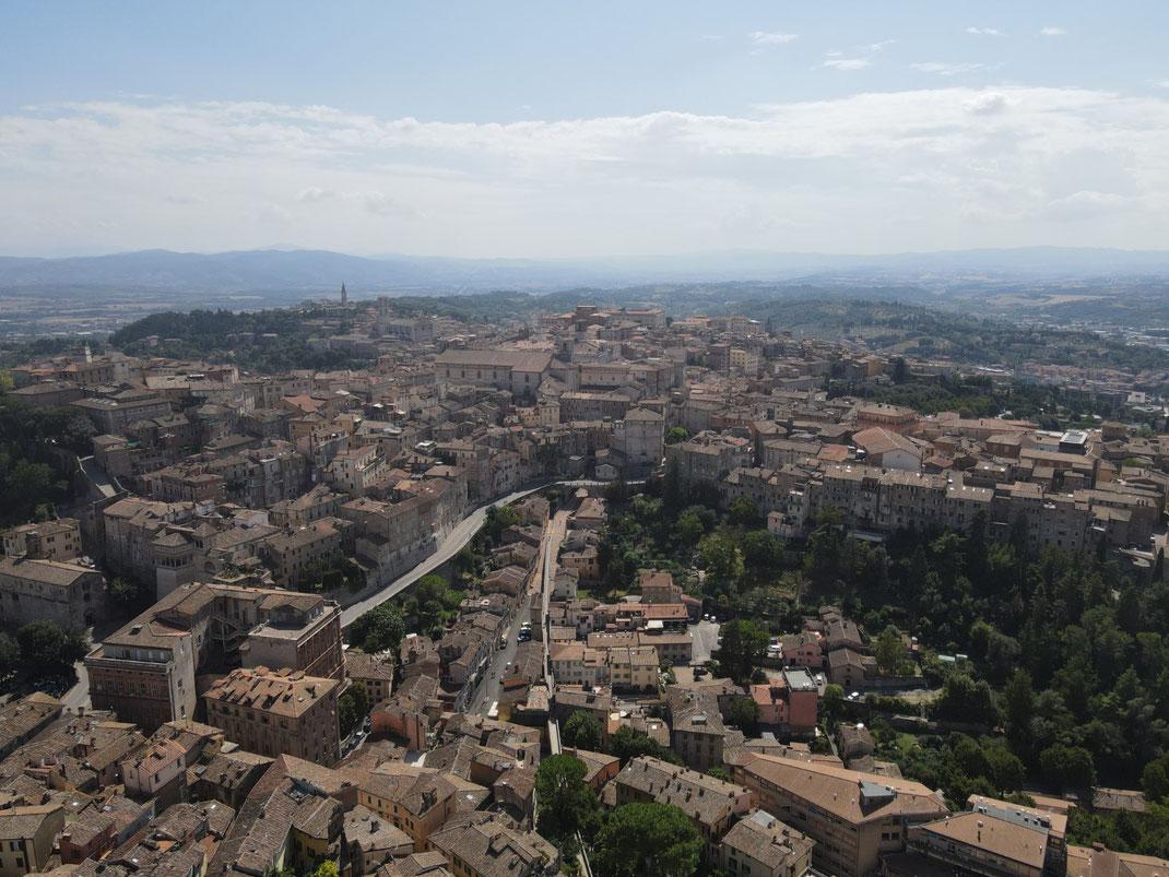 Perugia - mittelalterliches Aquädukt, Umbrien, Italien,