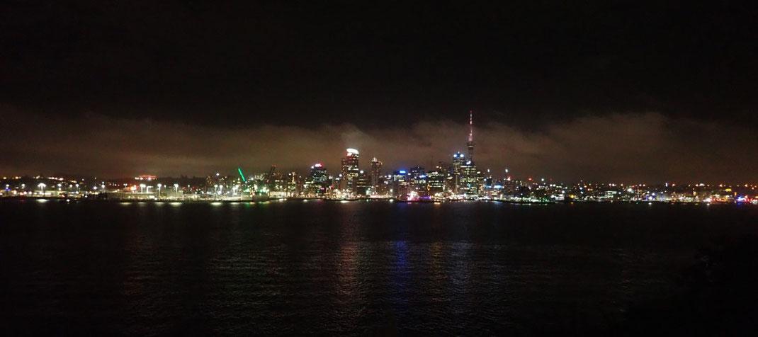 Skyline von Auckland vom Stanley Lookout