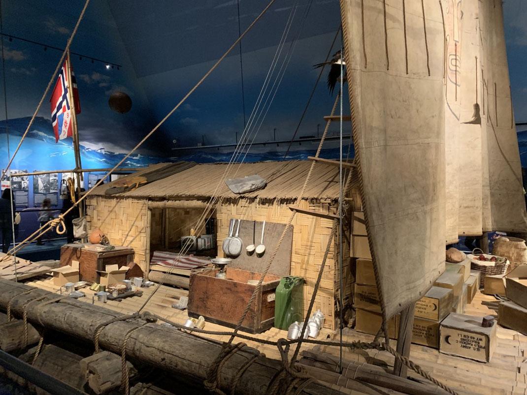 Norwegen, Oslo, Thor Heyerdahl, Kon-Tiki Museum, Schilfboot, Floß, Holz,