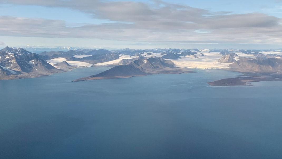 Spitzbergen, Gletscher, Svalbard 76 Grad Nord
