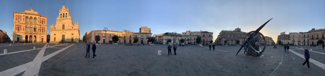 Italien, Sizilien, Grammichele, Sechseck, Piazza Carlo Maria Carafa, Zentrum