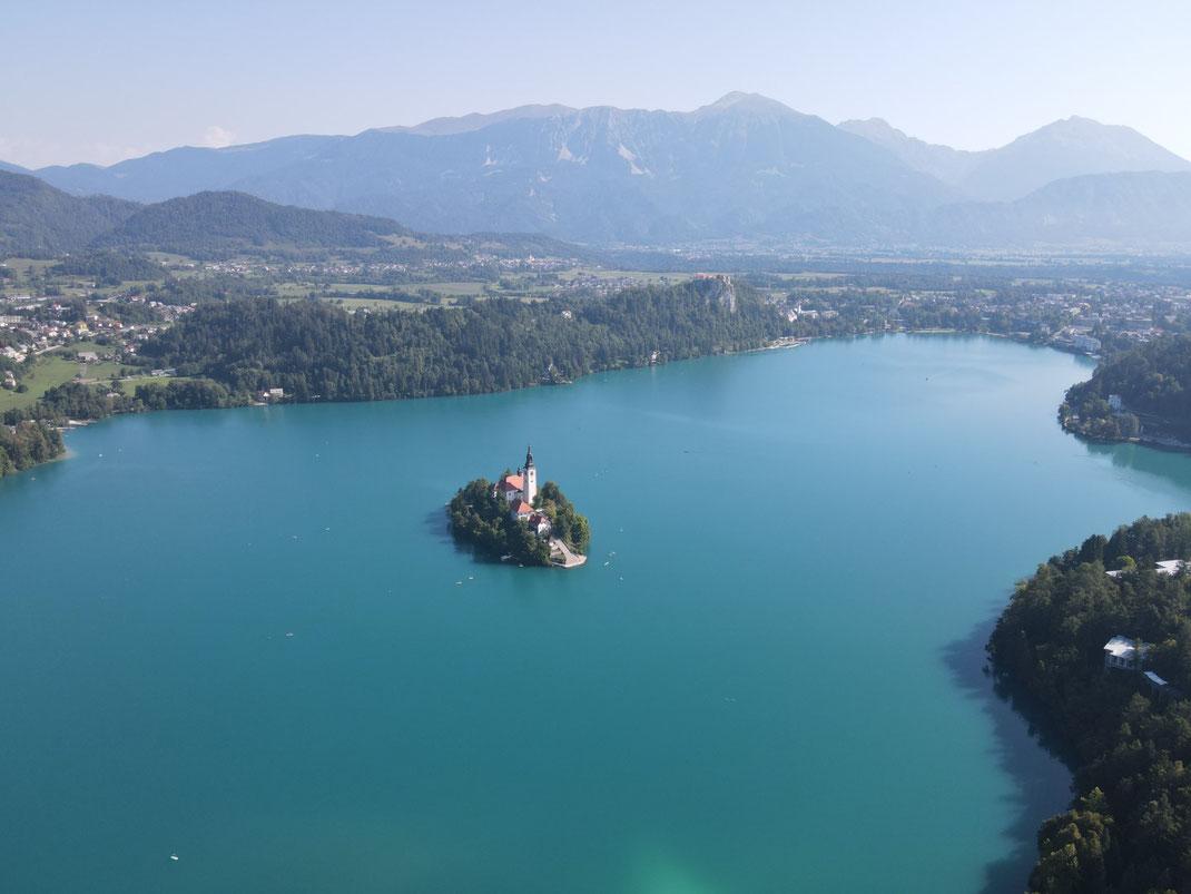 Slowenien, Slovenia, Bled, Bleder See, Kirche im See, Wallfahrtskirche,